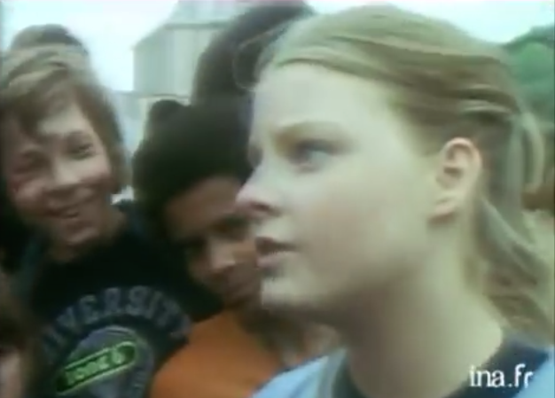 Jodi Foster at 15 in France
