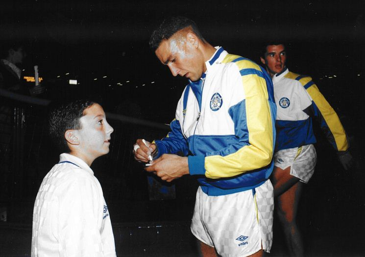 Graham Relton Teenage with Vinnie Jones Leeds United
