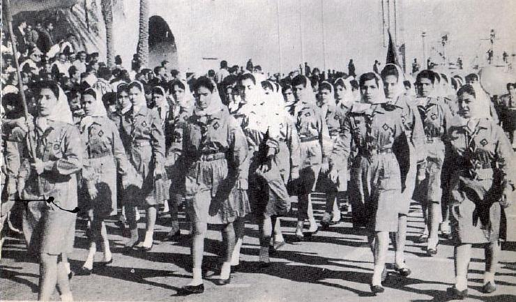 Libyan_Girl_Scouts_march_1960s